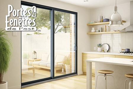 Portes patios en aluminium Urbania et Loft